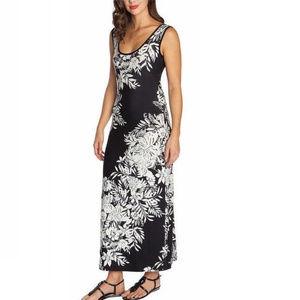 Mario Serrani Ladies Maxi Dress Black&White Floral